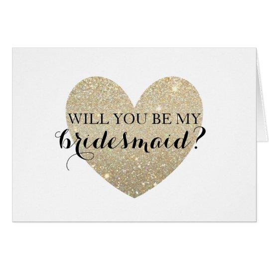 Will You Be My Bridesmaid Card - Bridal Heart Fab