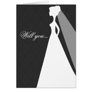 Will you be my bridesmaid card (charcoal)