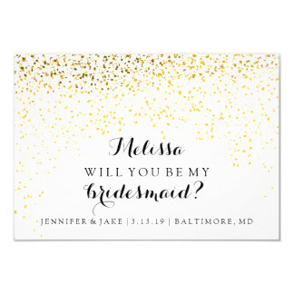 Will You Be My Bridesmaid Card - Confetti Fab 9 Cm X 13 Cm Invitation Card