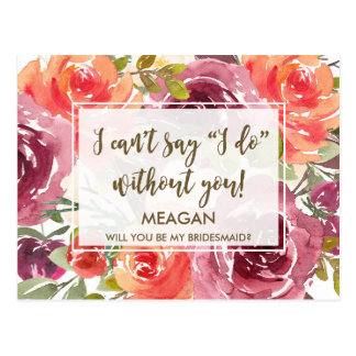 Will you be my bridesmaid card flower girl maid