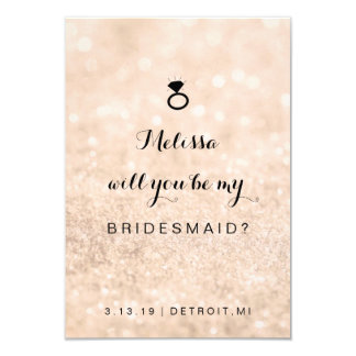 Will You Be My Bridesmaid Card - Glit Ring Fab Pch