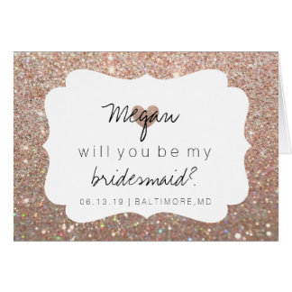 Will You Be My Bridesmaid Card - Heart's Fab DayRG