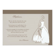 Will You Be My Bridesmaid Card 13 Cm X 18 Cm Invitation Card