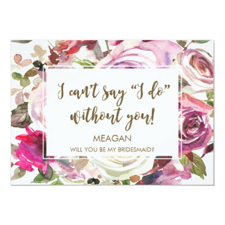Will you be my bridesmaid card personalized