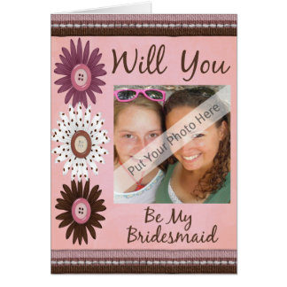 Will You Be My Bridesmaid Card-Personalized Greeting Card