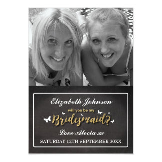 WILL YOU BE MY BRIDESMAID CARD | PHOTO