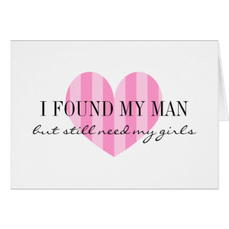 Will you be my bridesmaid card | Pink stripe heart