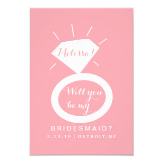 Will You Be My Bridesmaid Card - Ring Fab