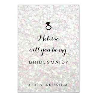 Will You Be My Bridesmaid Card - Ring Fab Iridesce