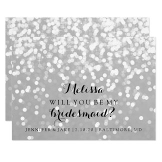 Will You Be My Bridesmaid Card - Sparkling Fab You