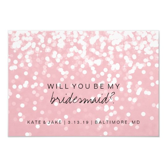 Will You Be My Bridesmaid Card - Sparkling