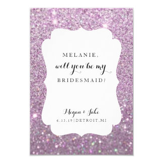 Will You Be My Bridesmaid Card - Wedding Day Fab 9 Cm X 13 Cm Invitation Card