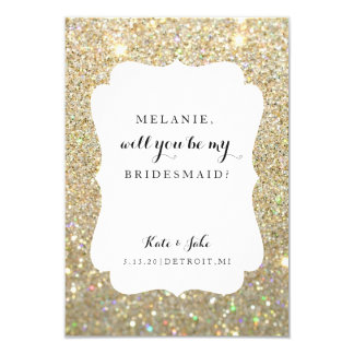 Will You Be My Bridesmaid Card - Wedding Day Fab G