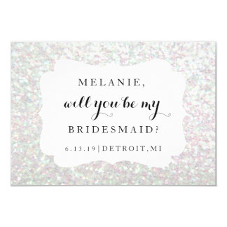Will You Be My Bridesmaid Card -Wedding Day Irides