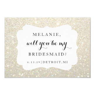 Will You Be My Bridesmaid Card -Wedding Day WGold