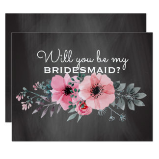 Will You Be My Bridesmaid | Chalkboard Bridesmaid Card