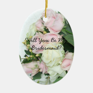 Will You Be My Bridesmaid Christmas Oval Ornament