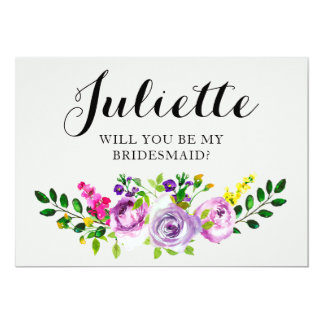 Will You Be My Bridesmaid? Customizable Card 5x7