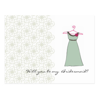 Will you be my Bridesmaid? Customizable Postcard