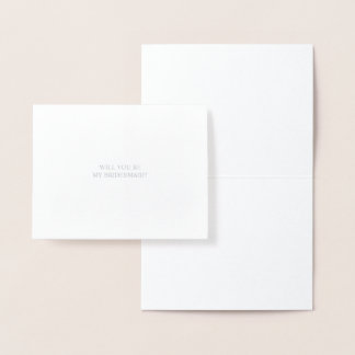 Will You Be My Bridesmaid | Elegant Silver Card