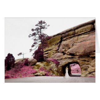 will you be my bridesmaid? : elegant tunnel greeting card