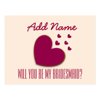 Will You Be My Bridesmaid Explosion of Hearts V01A Postcard