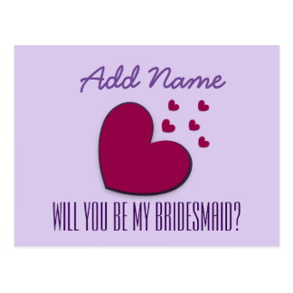 Will You Be My Bridesmaid Explosion of Hearts V01B Postcard
