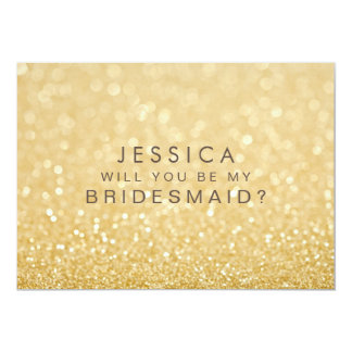 Will You Be My Bridesmaid Faux Gold Glitter Card 13 Cm X 18 Cm Invitation Card