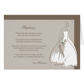 Will You Be My Bridesmaid Folded Card