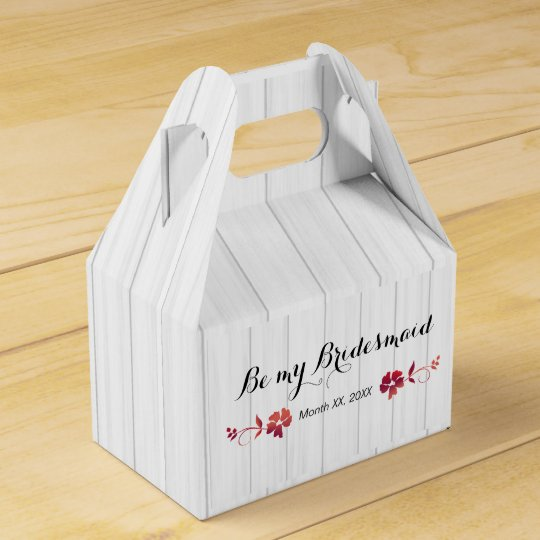 Will You Be My Bridesmaid Gift Ideas Favour Box