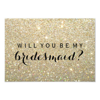 WIll You Be My Bridesmaid - Gold Fab 9 Cm X 13 Cm Invitation Card