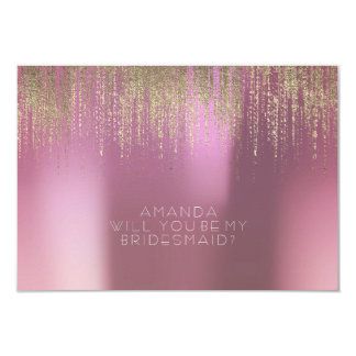 Will You Be My Bridesmaid Golden Rain Lilac Mauve Card