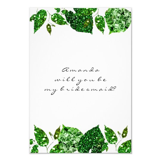 Will You Be My Bridesmaid Greenery Woodland Cali Card