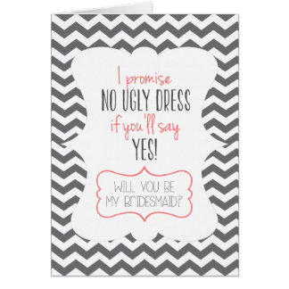 WILL YOU BE MY BRIDESMAID? | GREETING CARD