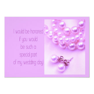 will you be my bridesmaid lavender pearls2 personalized invite
