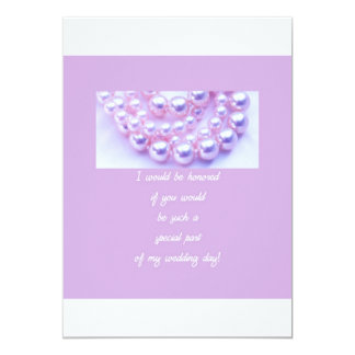 will you be my bridesmaid lavender pearls announcement