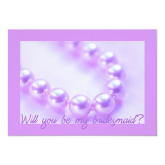 will you be my bridesmaid lila pearls custom invites