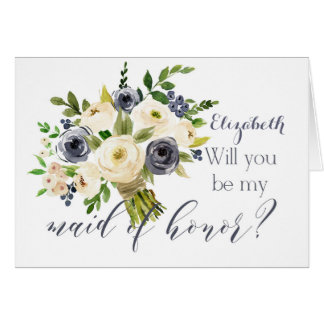 Will you be my bridesmaid maid of honor card