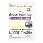 """Will you be my Bridesmaid?"" Personalised Invite"