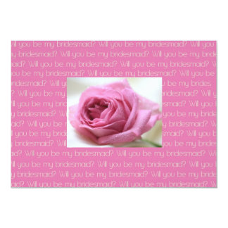 Will you be my bridesmaid pink taupe rose2 custom invite