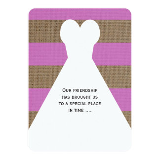 """Will You Be My Bridesmaid Poem Invitations Orchid 4.5"""" X 6.25"""" Invitation Card"""