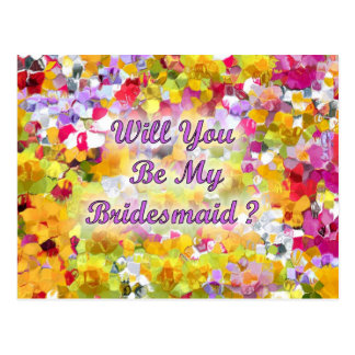 Will You Be My Bridesmaid ? Postcard