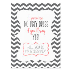 WILL YOU BE MY BRIDESMAID? | POSTCARD at Zazzle