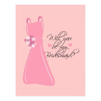"""""""Will you be my Bridesmaid?"""" Postcard"""