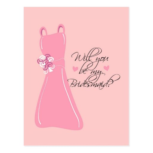 """""""Will you be my Bridesmaid?"""" Postcards"""