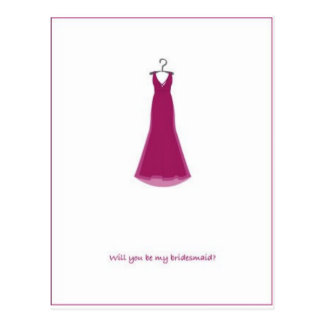 will-you-be-my-bridesmaid? postcard