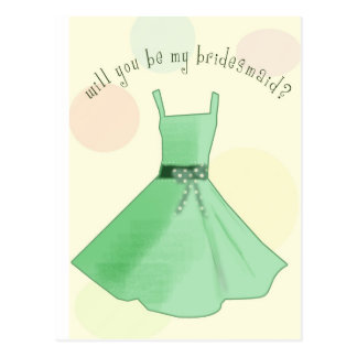 Will you be my bridesmaid postcard