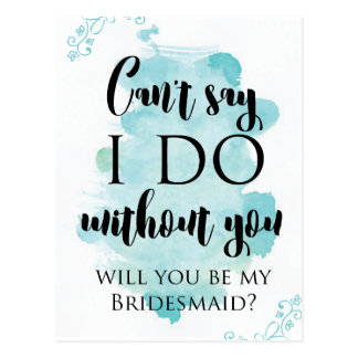 Will you be my bridesmaid question card postcard