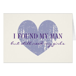 Will you be my bridesmaid request cards with heart