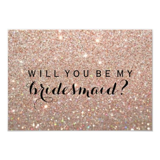 WIll You Be My Bridesmaid - Rose Gold